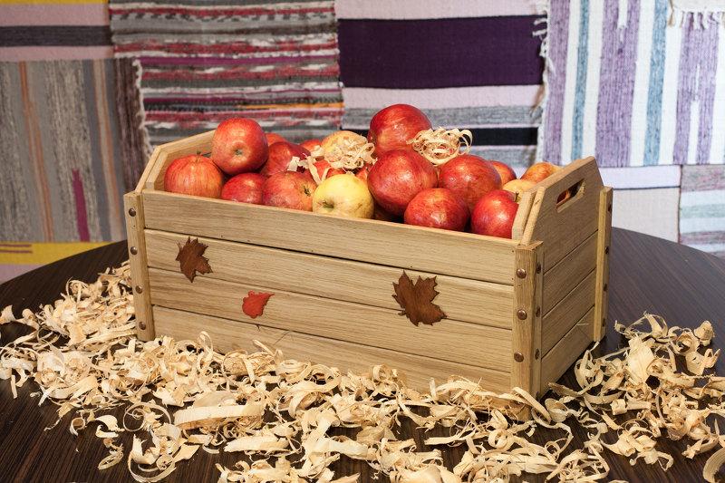 Как хранить яблоки, фото яблок в ящике
