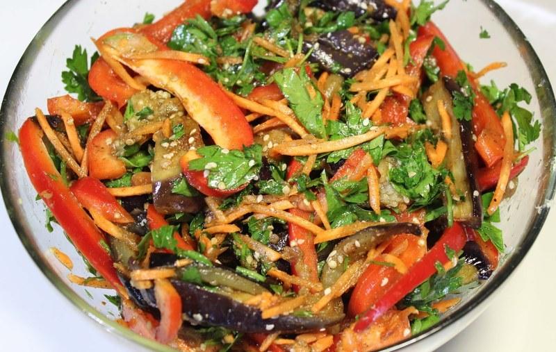 Рецепт салата баклажаны по корейски с