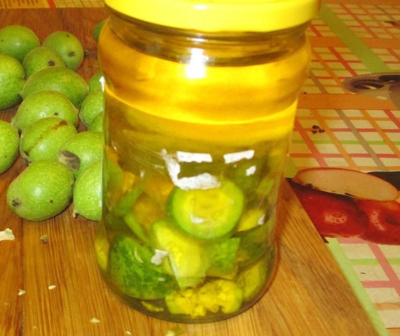 Щитовидка настойка из зеленых грецких орехов