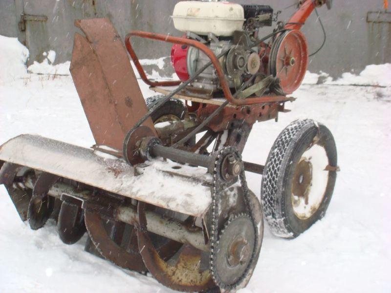 Шнековый снегоуборщик своими руками для мотоблока