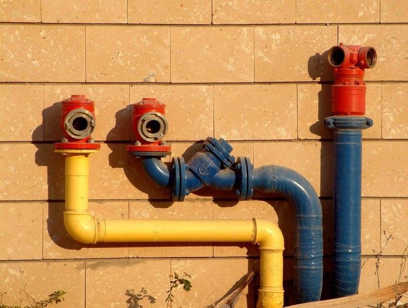 Подключение центрального горячего и холодного водоснабжения