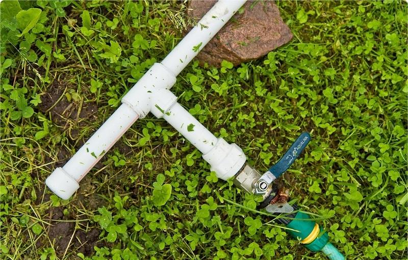 Временный водопровод для полива и летнего душа