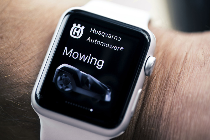 Приложение Automower Connect для часов Apple Watch от компании Husqvarna