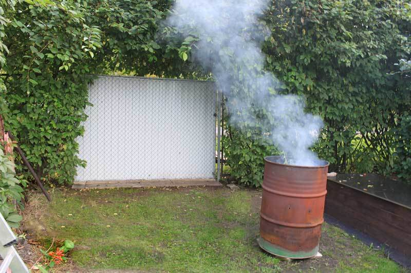 Бочка для сжигания отходов