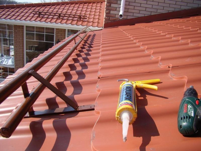 проводились установка снегозадержателей на крыше своими руками ручки Посмотри