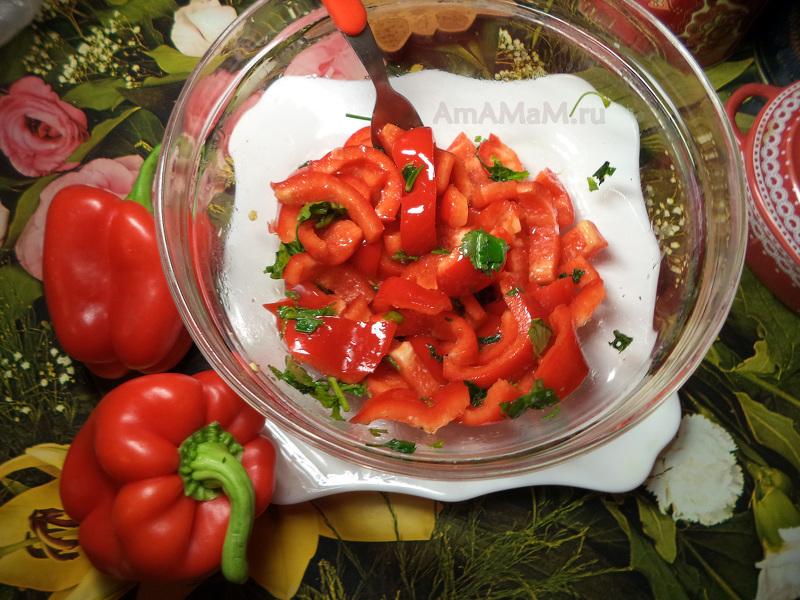 Красный и желтый перец используются в диетических блюдах