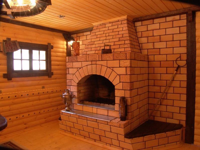 Фото камина в деревенском стиле