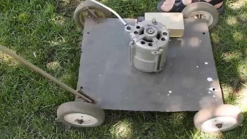 Электрическая газонокосилка своими руками сделанная