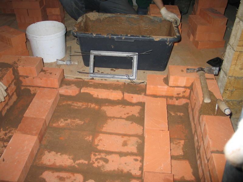 Кирпичная печь для бани - фото кладки