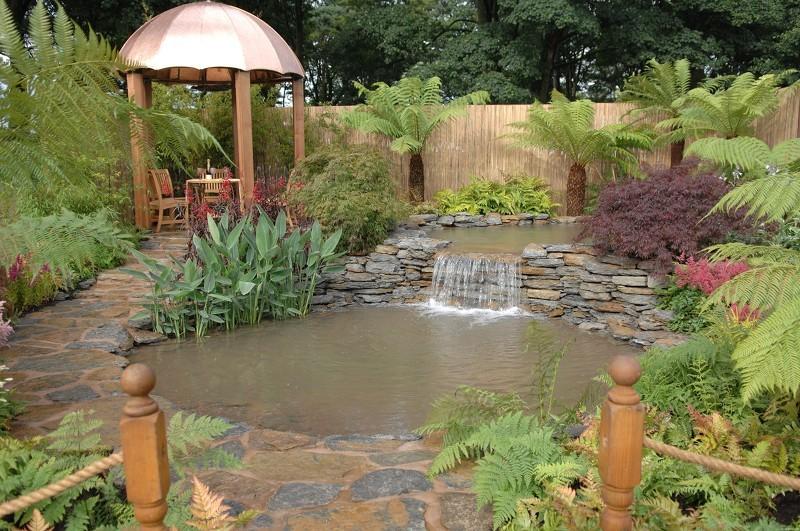 Фото пруда с водопадом в саду своими руками 315