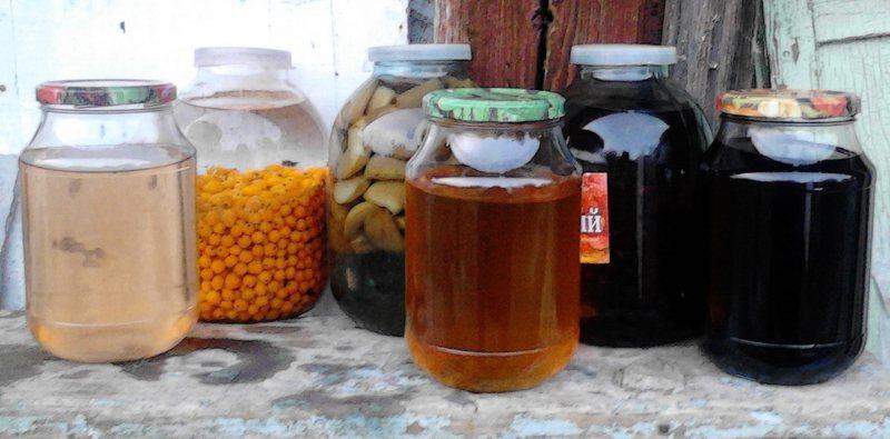 Ликеры на водке из смородины, рябины и облепихи