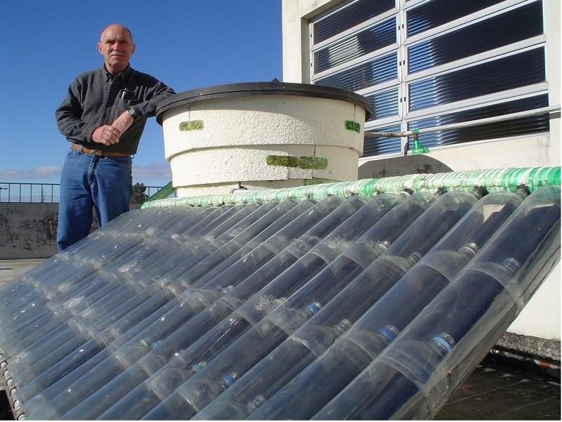 Нагреватель воды из пластиковых бутылок