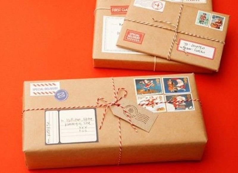 Как упаковать подарок от деда мороза 540