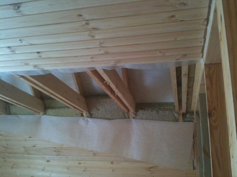 Как построить крышу бани своими руками: подшивка потолка