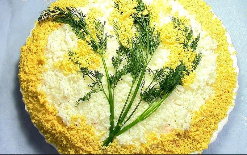 Мимоза - один из самых популярных салатов на территории России