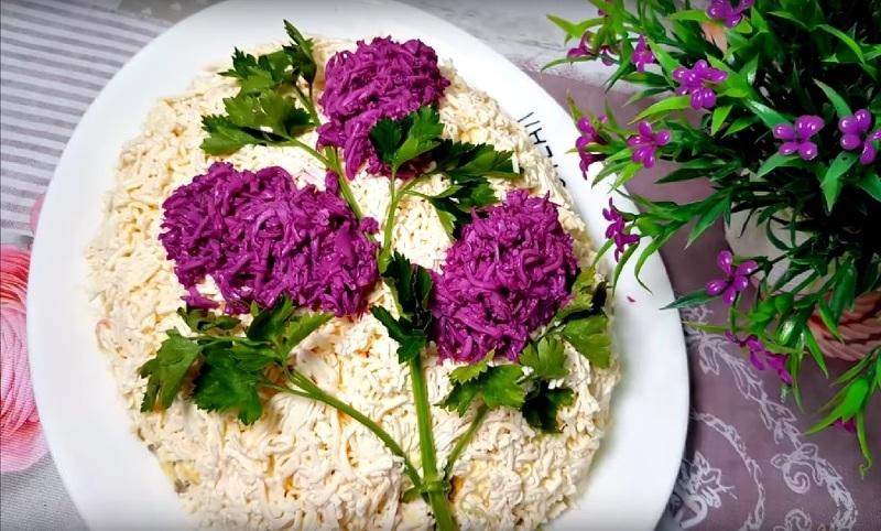 Сирень - очень яркий и вкусный свекольный салат