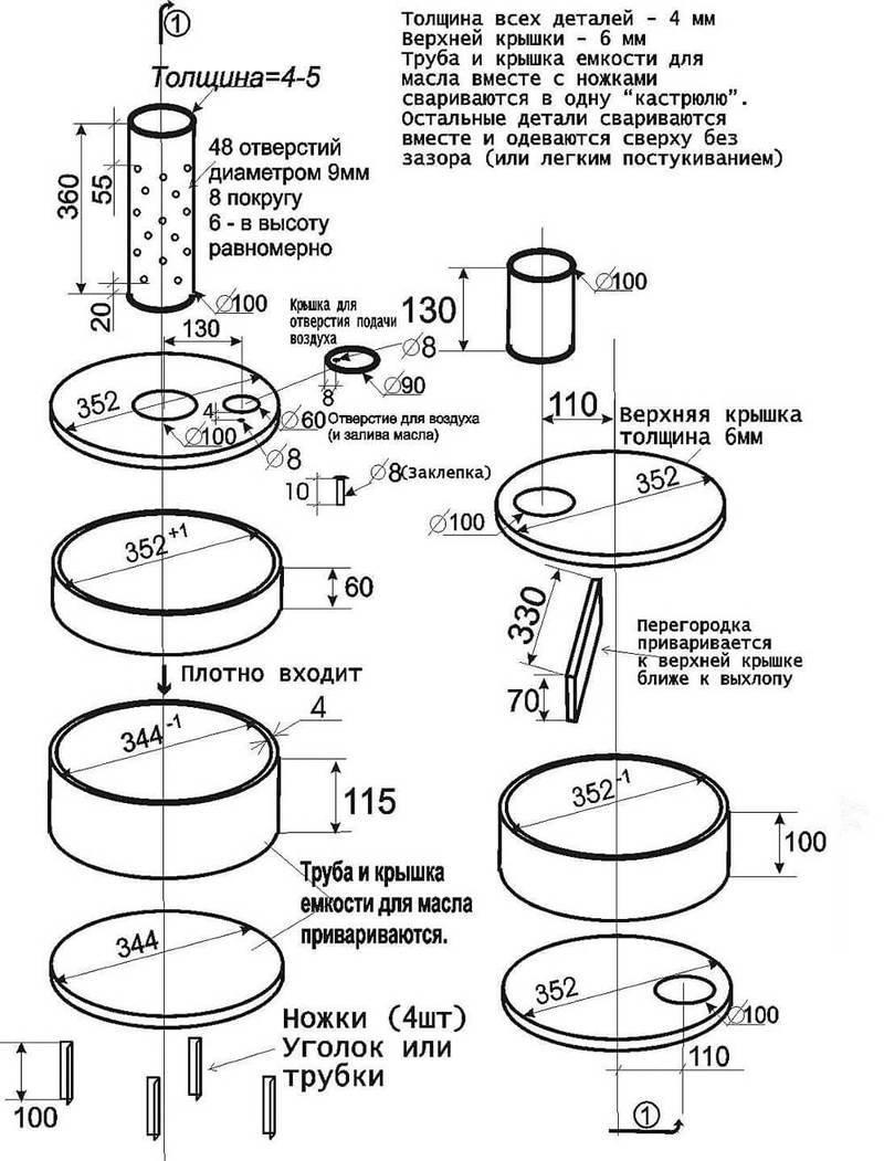 печь каменка длительного действия схема кладки