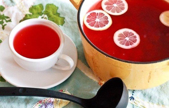 Сок из клюквы с лимончиком - полезный тонизирующий напиток