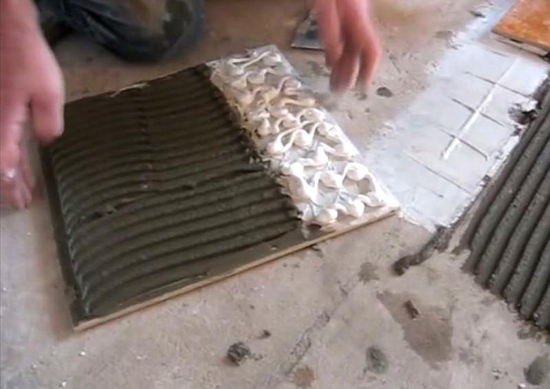Способ укладки плитки на теплые полы в месте компенсационного зазора