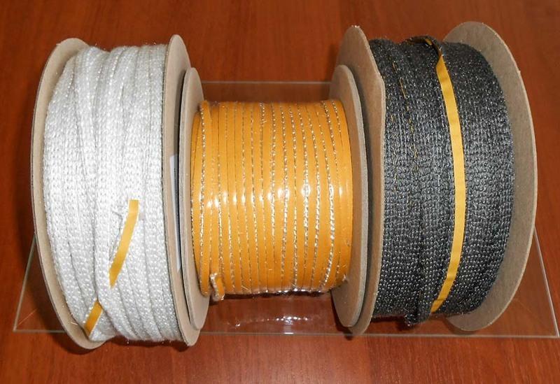 Стекловолоконный термостойкий шнур для уплотнения