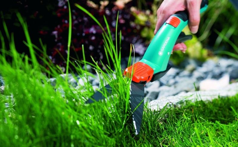 Стрижка газона специальными ножницами