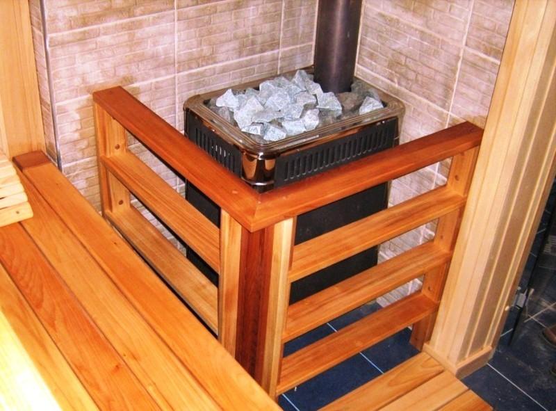 Выбор места и установка металлической печи в бане своими руками