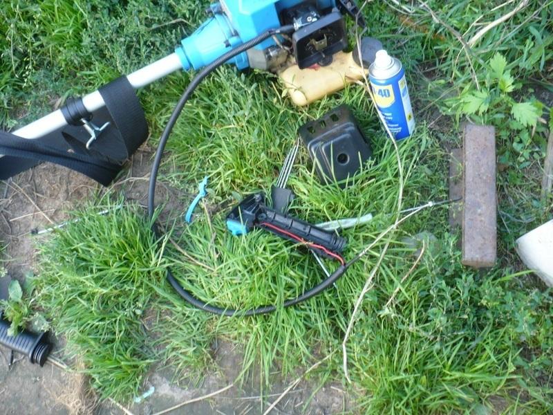 Восстановление ручки газа триммера