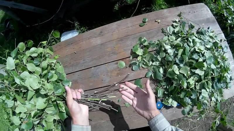Вязка березового веника для бани