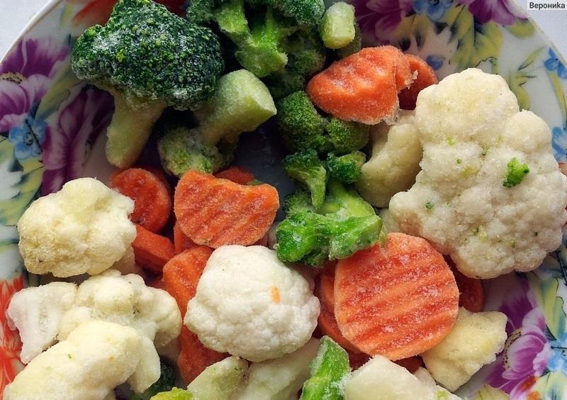 Можно замораживать цветную капусту вместе с другими овощами